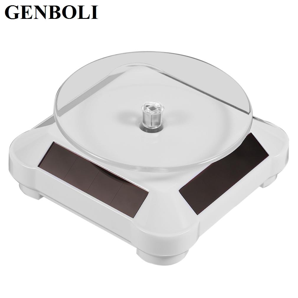 110 110 50mm Solar Showcase Automatic Rotating Stand 360 Turntable