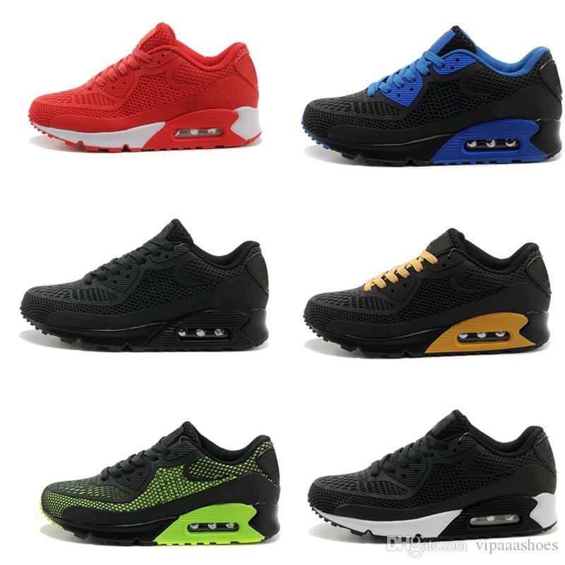 new style b2331 ad0e5 Großhandel Hot Selling Nike Air Max Airmax 90 KPU 2017 Top Qualität Kissen  Alr 90 KPU Mens Classic 90 Freizeitschuhe Trainer Turnschuhe Mann Laufschuhe  ...