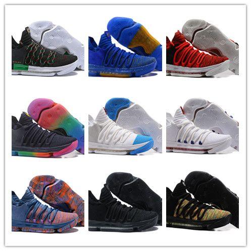 b5ae309b280b 2018 NetSurface Men S Zoom KD 10 Anniversary University Igloo Betrue Oreo Men  Basketball Shoes USA Kevin Durant Elite KD 10 Sneakers KDX Basketball Shoes  ...