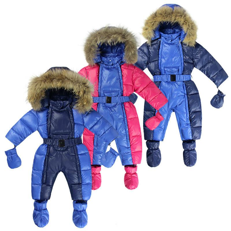 8118347e55d2 Toddlerinfant Baby Romper Ice Cream Bottle Jumpsuit Down Jacket Pattern  Cotton Conjoined Clothing Children Creeping Suit Winter Overalls Baby  Rompers Baby ...