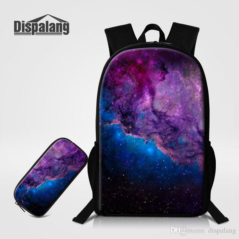 6f7dcee63e83 Men Travel Outdoor Bag Universe Space Galaxy Print Fashion School Bags  Backpack With Pencilbox For Teenagers Children Oxford Bookbags Rugtas
