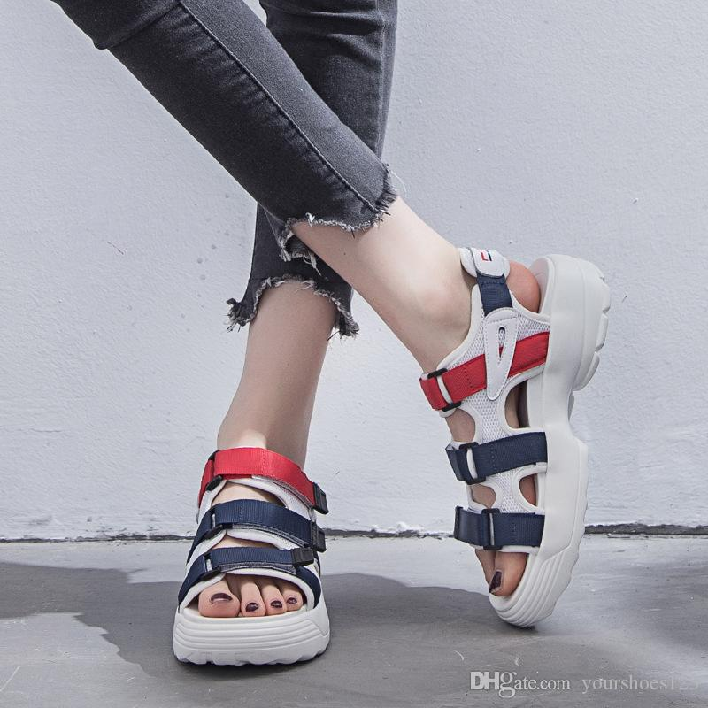 52a0f72c68d 2018 New Summer Women Flat Sandals Platform Heel Gladiator Leisure Cool  Shoes Student Fashion Sports Sandals Leather Sandals Wedding Sandals From  ...