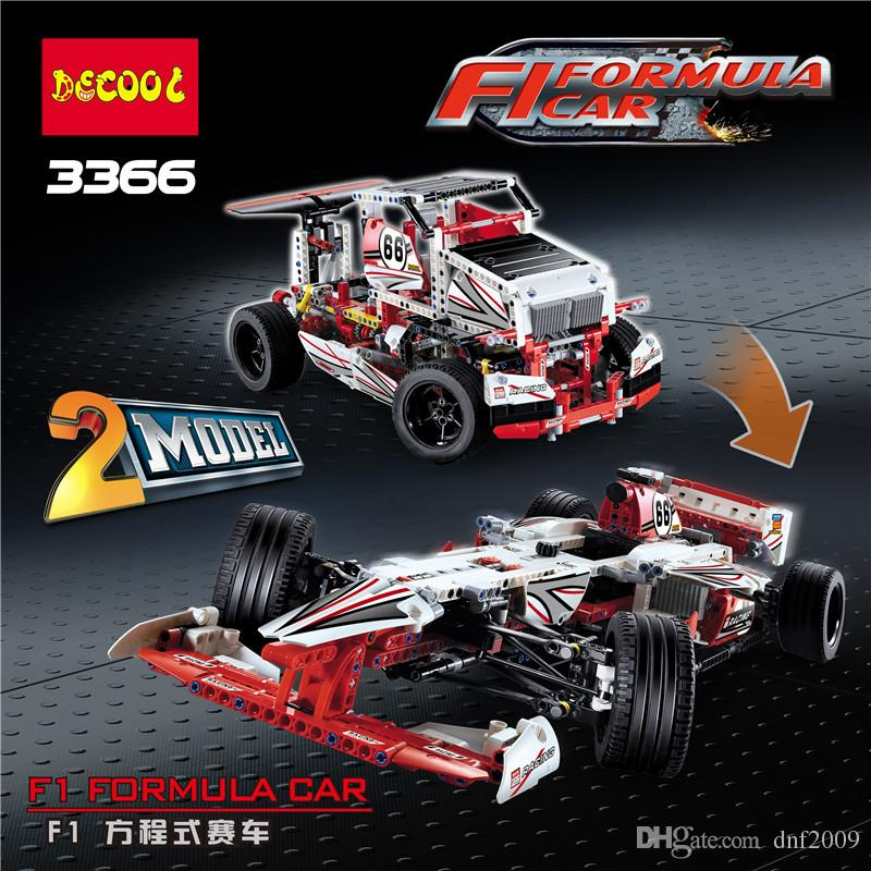 Technology building blocks assembling difficult assembly sports car F1 formula racing model educational toys products length 58cm
