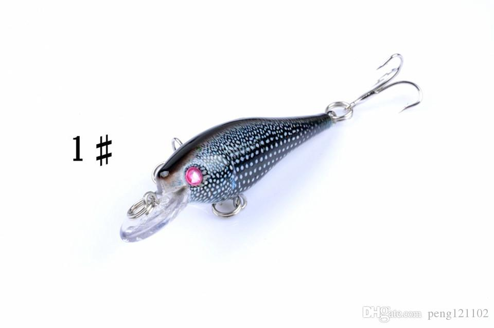 4-color 6.5cm 7.4g plastic baits Hard Lures Fishhooks 3D Minnow Fishing Lure Hooks 6# Hook Artificial Pesca Tackle Accessories