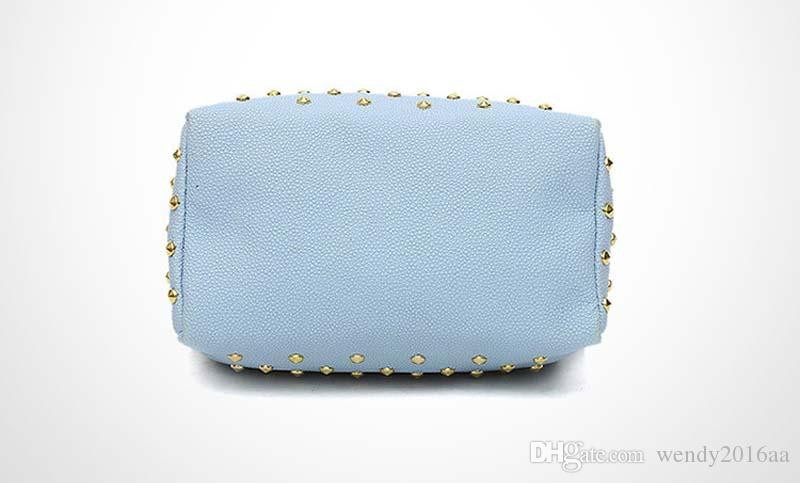 2017 Women PU Rivet Shell Handbag Chain Bag Fashion Shoulder Bags for party gift