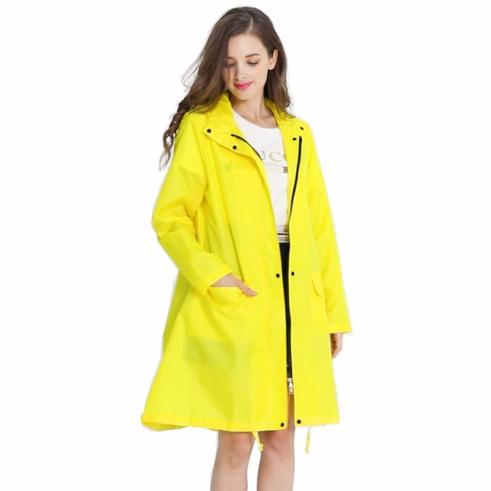 Raincoat womens with hood stylish