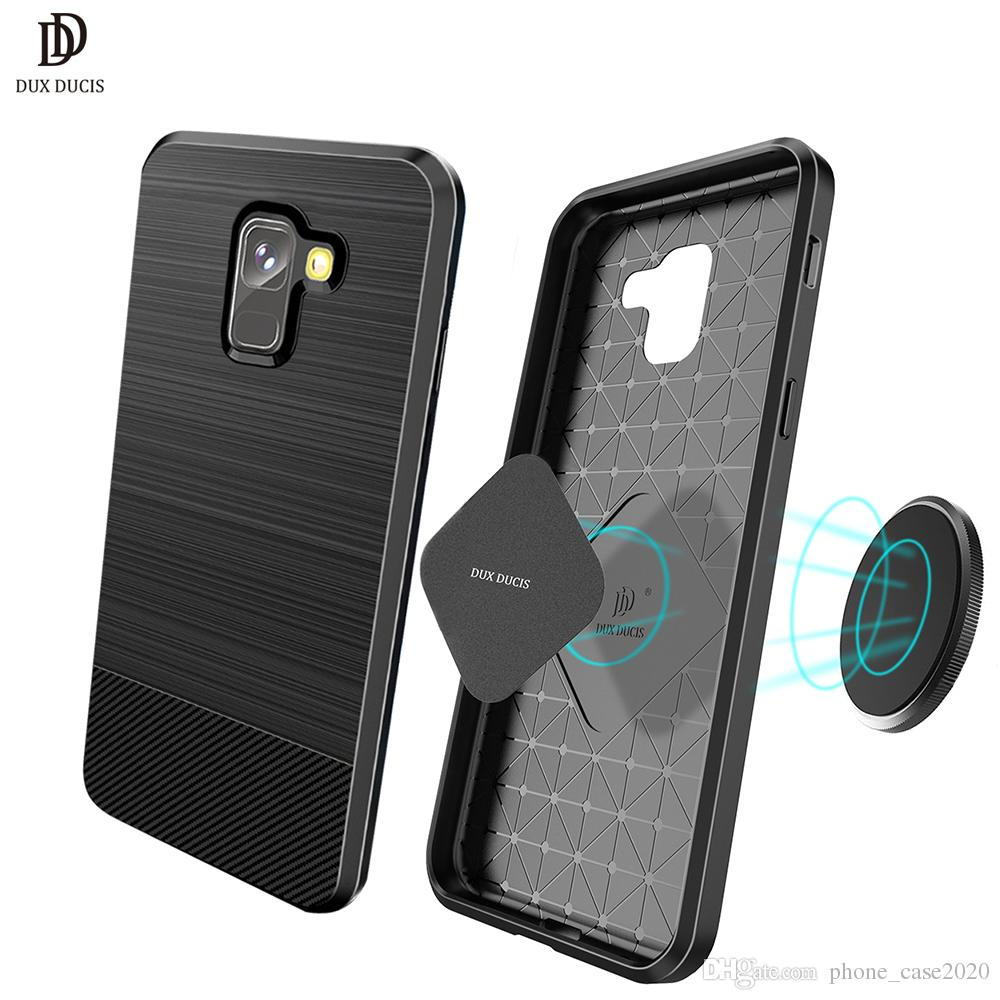 Dux Ducis Ultra Slim Thin Carbon Fiber Soft Case For Samsung Galaxy Brushed Armor Hard Xiaomi Mi5s Mi 5s A8 2018 Plus S9 Huawei P20 Lite Online With