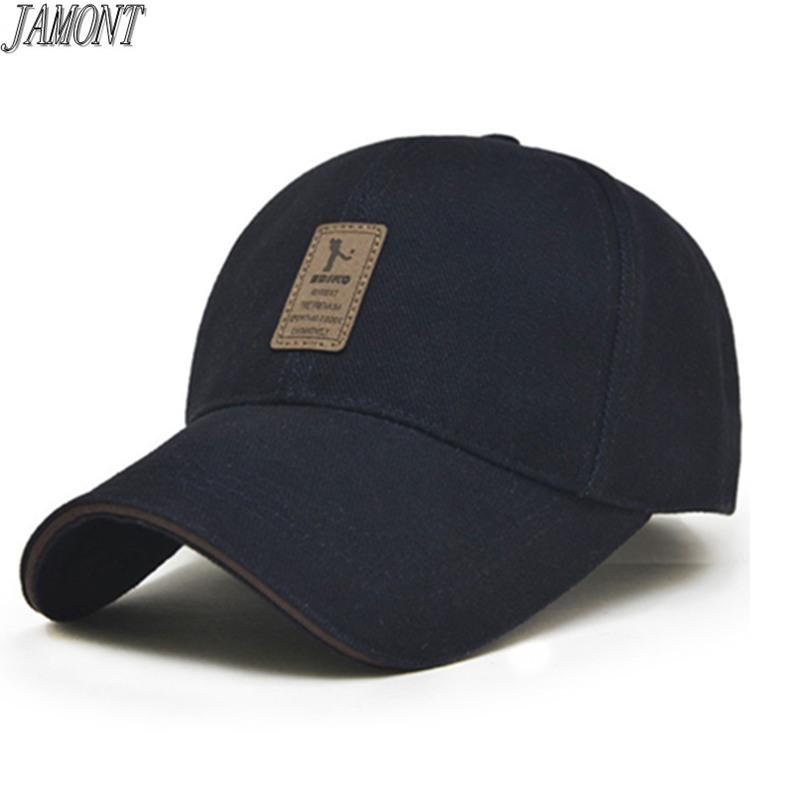 3c264c72 2018 Fashion Baseball Cap men and women Adjustable Cap Solid Color Sports  Golf Snapback Summer Fall hat Casual leisure hats