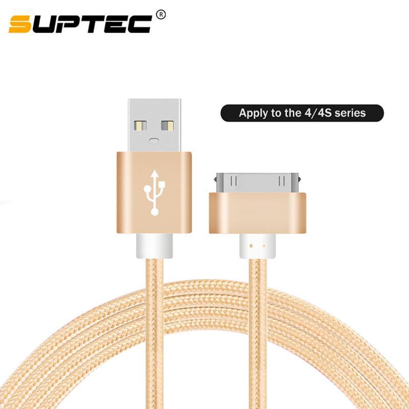 3f6163c6564 Accesorios Para Teléfonos Móviles SUPTEC Cable USB De Carga Rápida Para 4 S  4s 3GS IPad 2 3 Nano Touch 30 Pin Adaptador De Carga Cargador Cable De Datos  ...