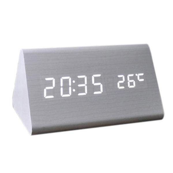 671e74f6fe Acheter Mode Calendrier De Commande Vocale E Réveil Numérique En Bois LED  USB / AAA De $25.04 Du Homegarden | DHgate.Com