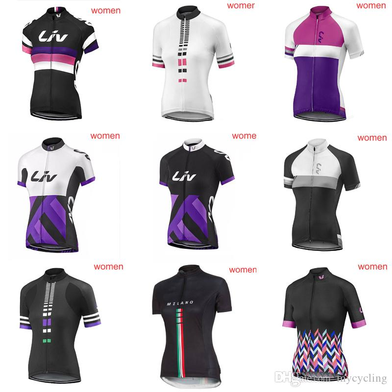 Ropa Ciclismo LIV Short Sleeve Summer Women MTB Bike Clothing Breathable Bicycle  Clothes Ropa Ciclismo Girls Pro Cycling Jersey C3008 LIV Cycling Jersey ... a8f129333