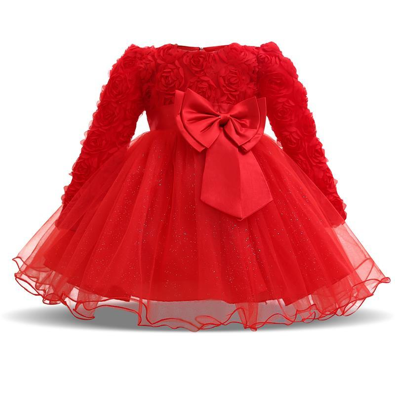 2018 Baby Girl 1 Year Birthday Dress Infant Christening Gowns Kids