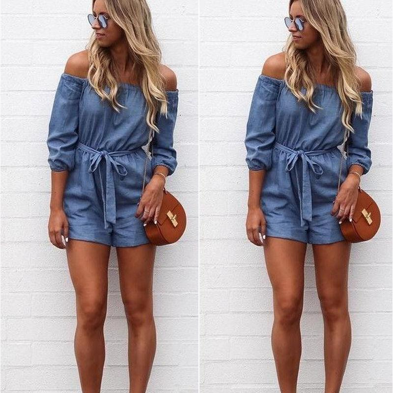 e9cb2827f930 2019 2017 Summer Shorts Fashion Short Casual Jumpsuits Jeans Coverall Women  Jumpsuit Denim Overalls Shirt Rompers Girls Shorts From Misssixty