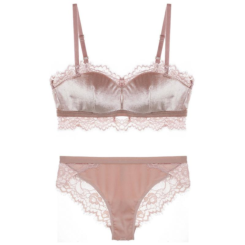 2019 CINOON Velvet Wire Free Underwear Women Sexy Eyelashes Lace Retro Tube  Top Thin Cotton Lingerie Comfortable Bra And Briefs Sets From Whitecloth 6351900c9