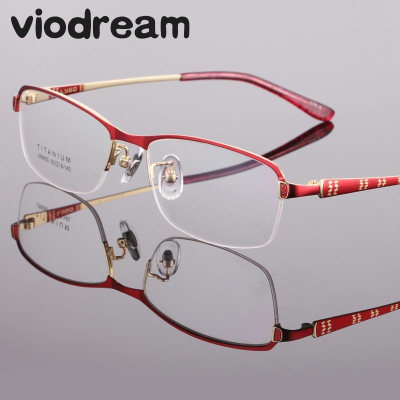 2019 Viodream Optical Glasses Frame For Women New Pure Titanium Half  Prescription Eyewear Frames Oculos De Grau Feminino 8950 From Alley66,   40.31   DHgate. 33681bb511