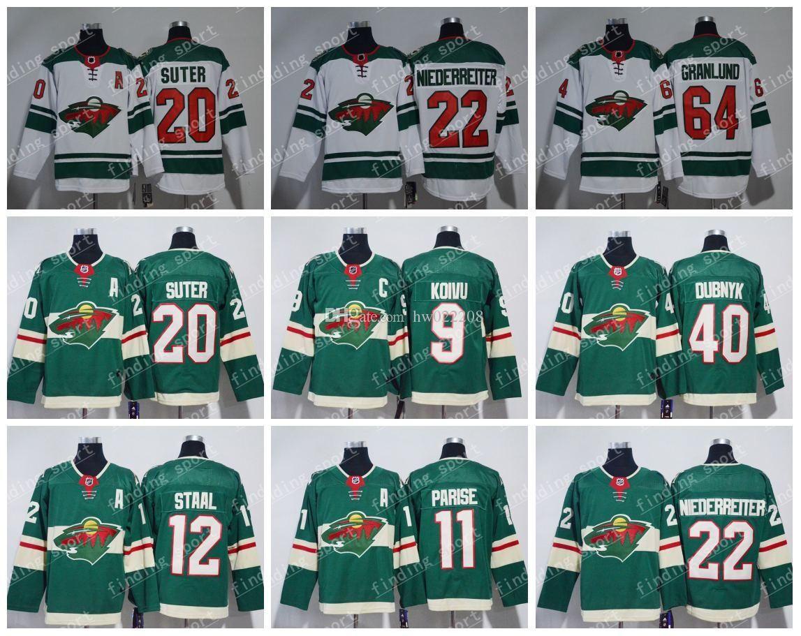 3d7d63156 2019 2018 19 Stadium Series Minnesota Wild 9 Mikko Koivu 11 Zach Parise 16  Jason Zucker 20 Ryan Suter 22 Nino Niederreiter Ice Hockey Jerseys From ...