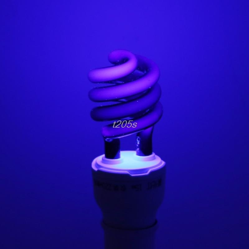 E27 5/15/20W UV Ultraviolet Fluorescent Blacklight CFL Light Bulb Lamp 220V  T16 Drop ship