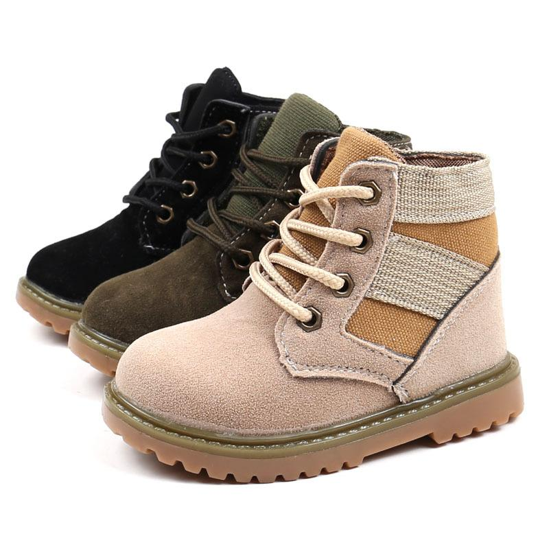 c88d4d490e88 Children Matin Boots Boys Girls Short Boot Cow Muscle Sole For Fall Winter  Kids Cotton Outdoor Casual Shoes Factory B65 Girls Fashion Boots Little Girl  ...