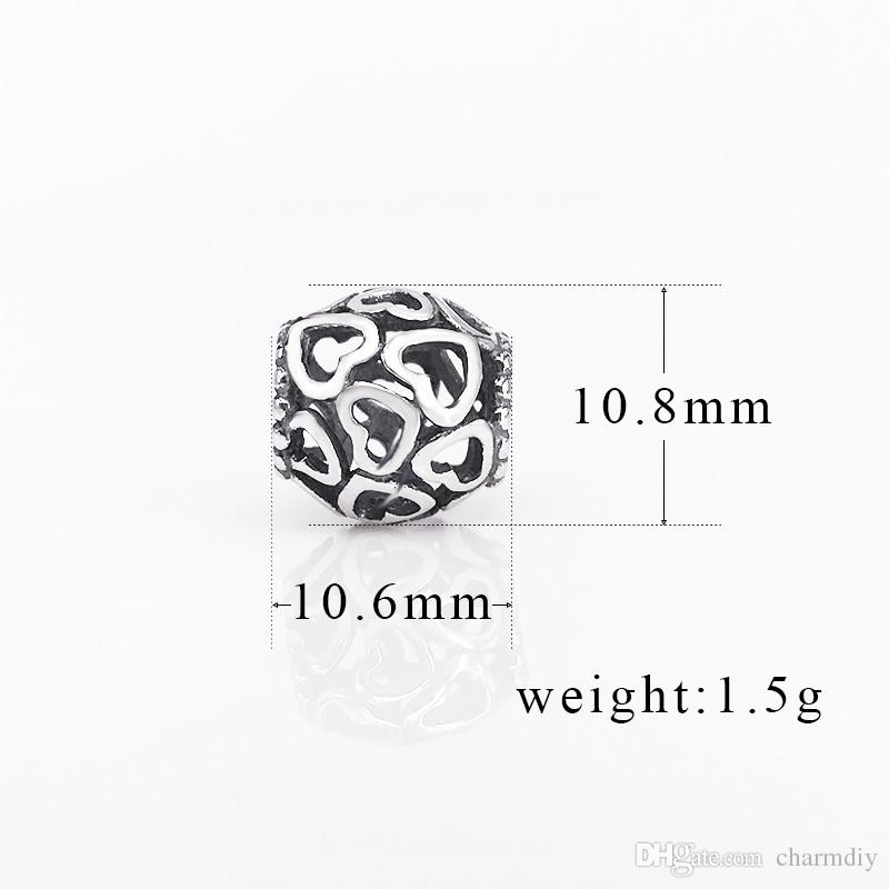 Wholesale European Style Authentic 925 Sterling Silver Open Your Heart Charm DIY Jewellery Fits For Bracelet 790964