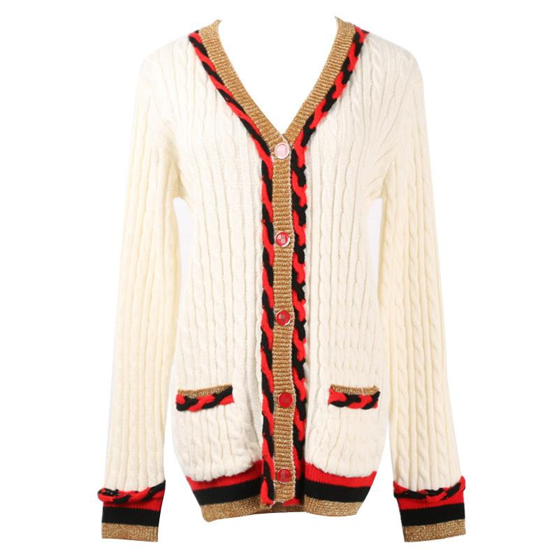 db602b39e3 2019 2018 Autumn Fashion Patchwork Sweater For Women Casual Loose Long  Sleeve Knitted Jacket Female Cardigan Coat Sweaters Luxury From Sadlyric