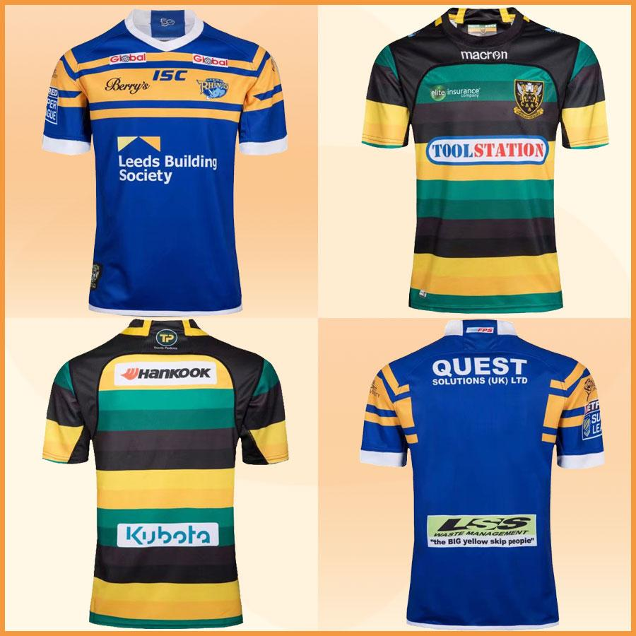 official photos d71e8 d1dde Top Quality Northampton Saints Home and Away Leeds Rhinos Rugby Jerseys  2018 Aviva English Premiership Rugby League 2019 Rugby Shirts