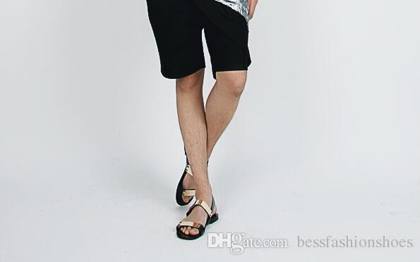Studs Men Sandals Black Rome Shoes Gladiator Sandals High-Top Owen Shoes Rivet Slippers Slides Summer Rivets Men Sandals Shoes
