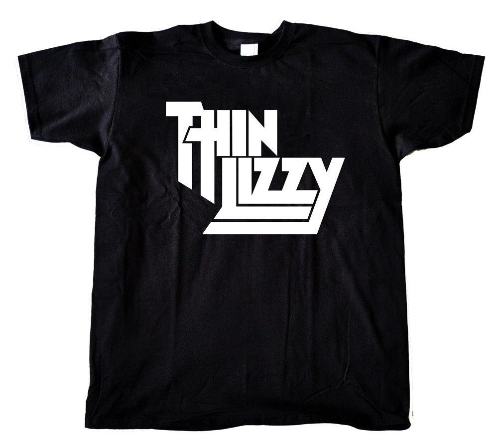 Thin T Mens Music Logo Tour Tshirt Shirt Ladies Retro Rock Lizzy vm8nw0N