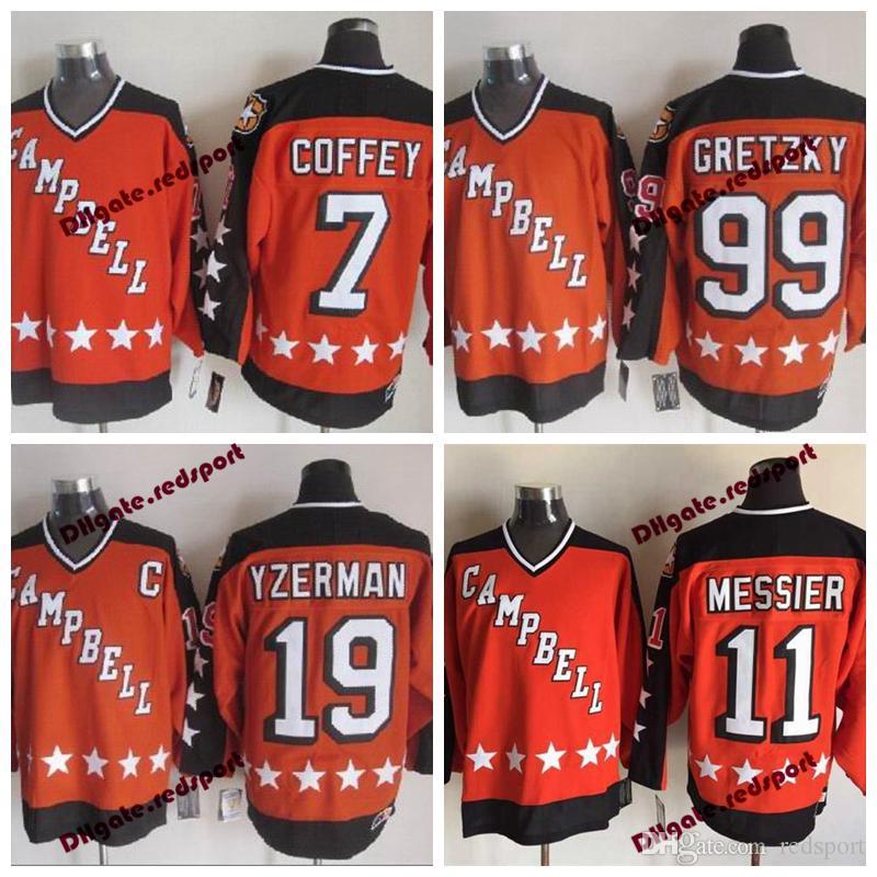 2019 1984 Campbell All Star CCM 19 Steve Yzerman 11 Mark Messier 99 Wayne  Gretzky 7 Paul Coffey Vintage Orange Hockey Jersey From Redsport 2c0d1183e