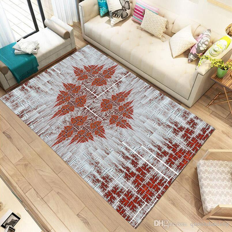 Anti-skid 3D Print Abstract design Living room Carpet Study Floor Mat  Coffee Table Foot pad Bedroom rug Bay window Cushion Easy wash