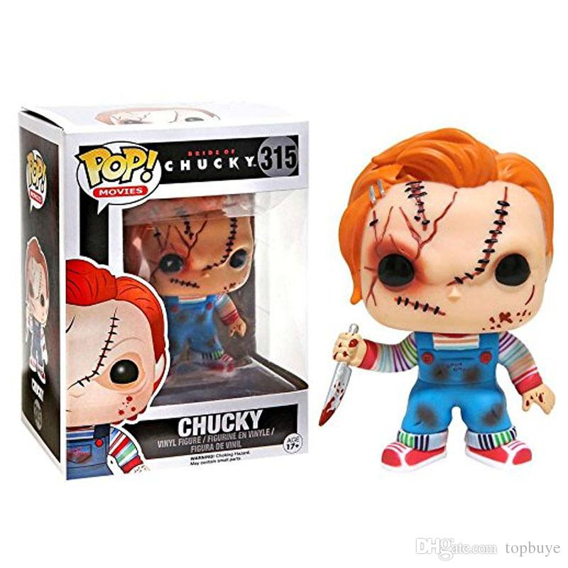 Funko Pop Child's Play Chucky Vinyl Action Figure With Box #315 Popular Toy Gift Free Shipping