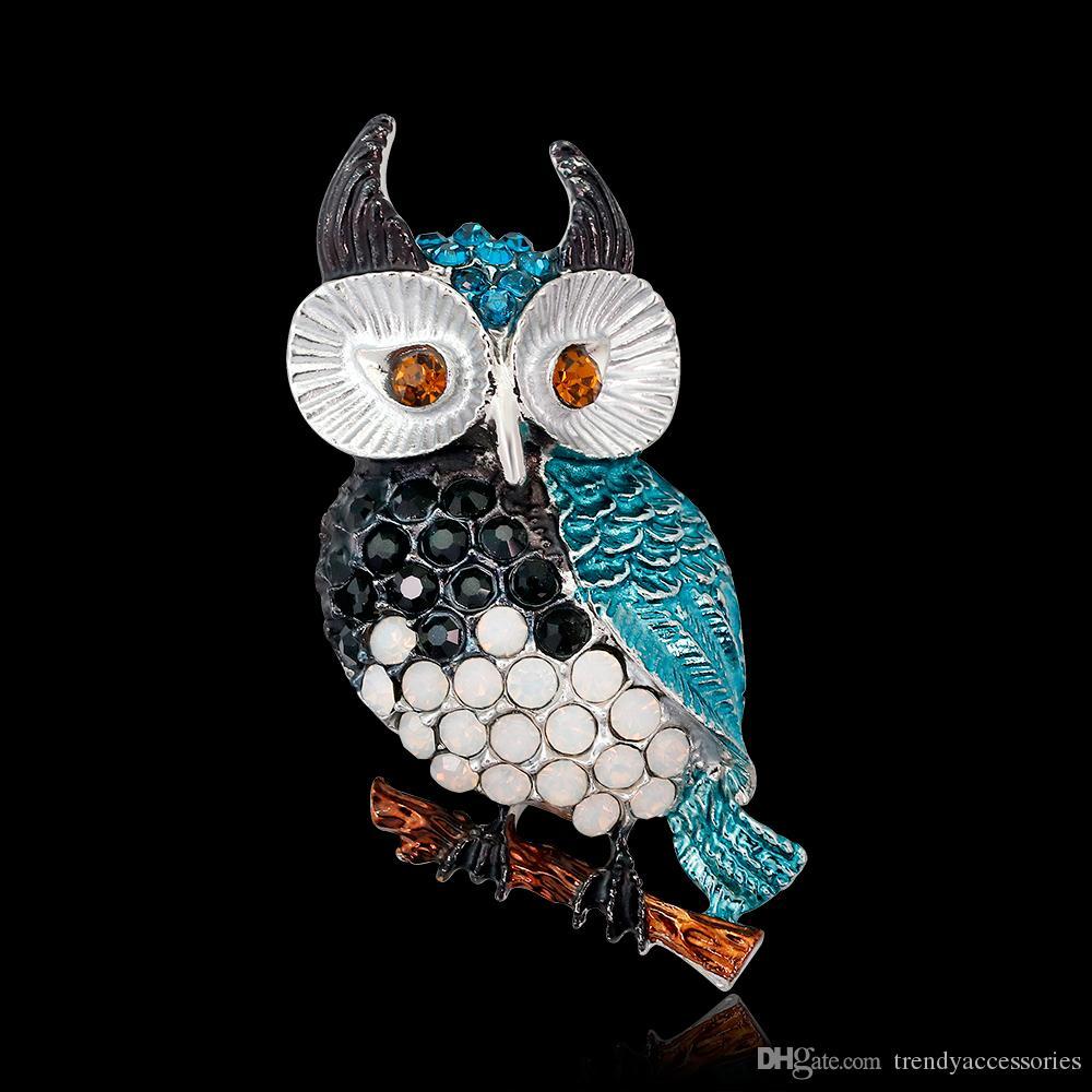 Ciondolo spilla Ctystal simpatico uccello spilla collezione spilla pendente
