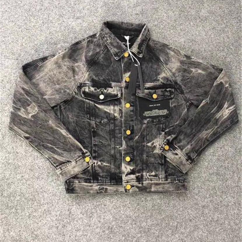 fc76c06703e2 2018 Fear of God Batwing Sleeve Women Men Denim Jackets Coat Hip Hop ...