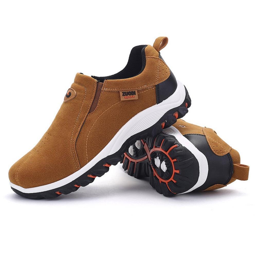 9438e5a02c Großhandel Outdoor Klettern Mann Wildleder Schuhe Wandern Anti Slip Sohle  Verschleißfeste Reise Sportschuhe Jogging Sneakers Gummisohle 39 47 Größe  Von ...