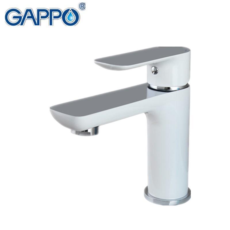 Grosshandel Gappo Neue Weiss Messing Bad Waschbecken Wasserhahn Heisse