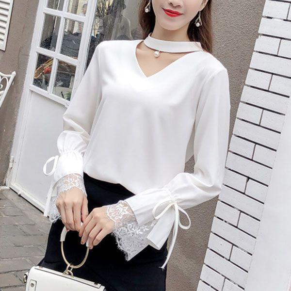 40682048c59 Womens Tops And Blouse 2018 Chiffon Shirts Korean Fashion Shirt Summer  Stylish Female Clothes Shirt Women s Blouses Ladies New 016
