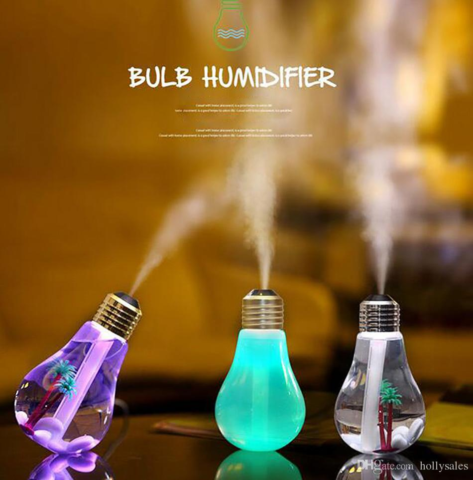 2018 brand new led bulb air humidifiers incense machine Ultrasonic Humidifier Home Office Mini Aromatherapy colorful LED Humidificador