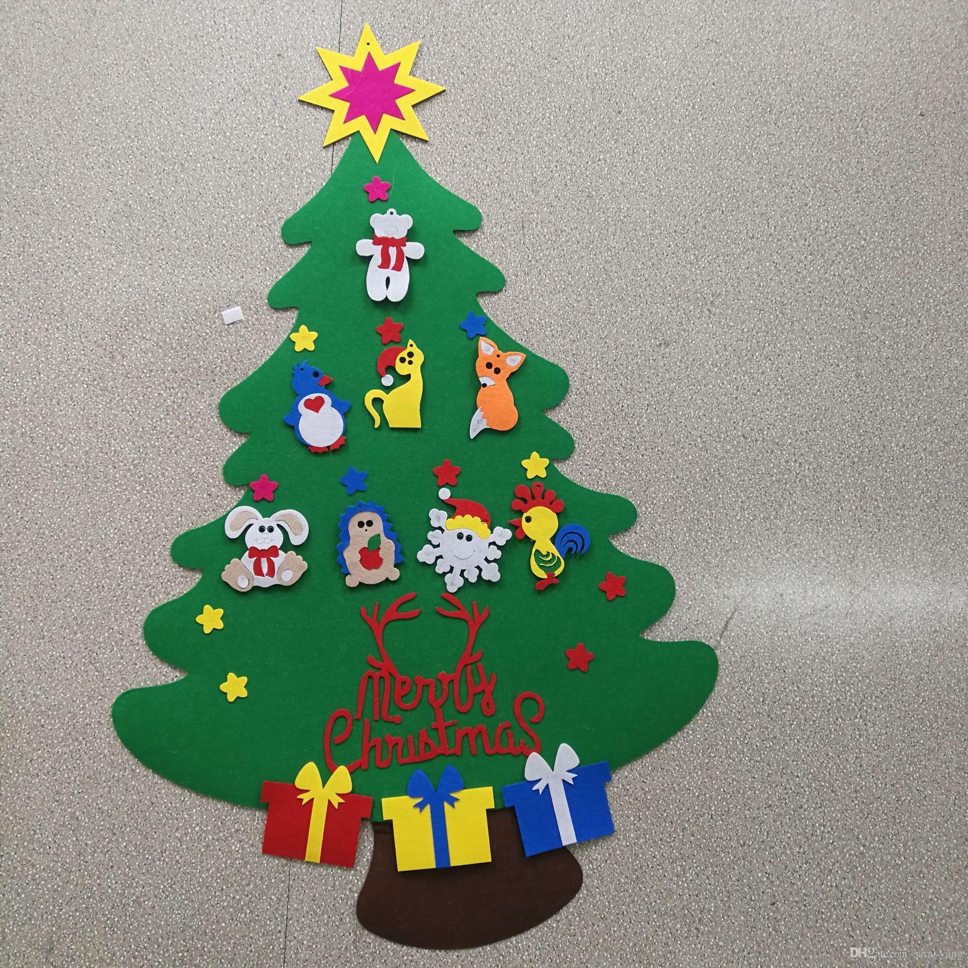 Compre 2017 Novas Crianças Diy Sentiu Conjunto De árvore De Natal