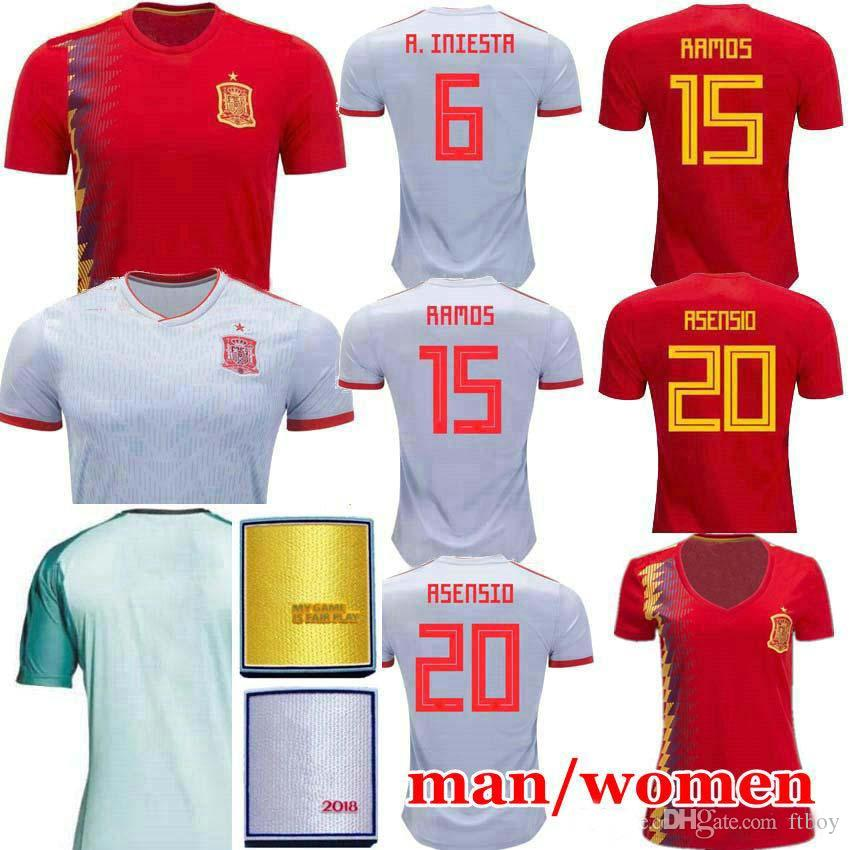 356672a5a 2018 2018 Spain World Cup Jersey Home Away Soccer Jersey Spain Home Soccer  Shirt 2019 Women Isco Asensio Morata A.Iniesta Football Uniforms Sales From  Ftboy ...
