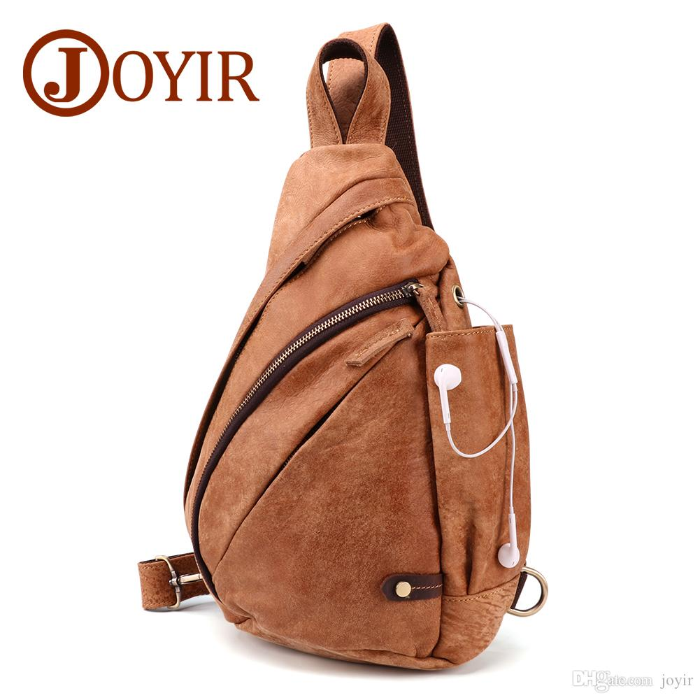 eff720988647 2018 New Genuine Leather Men Chest Bags Vintage Travel Daypack Male  Shoulder Crossbody Bags Men Chest Pack 6410 Leather Purse Womens Purses  From Joyir
