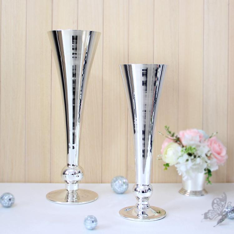 Wholesale Silver White Metal Vasese 10321033 Weddinghome