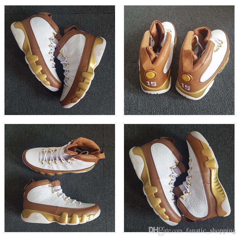timeless design 7abf1 8ed16 Großhandel 2018 New 9 Mop Melo Basketballschuhe 9s Goldbraun 302370 122  Designer Sports Sneakers 40 47 Mit Box Von Fanatic shopping,  65.99 Auf  De.Dhgate.