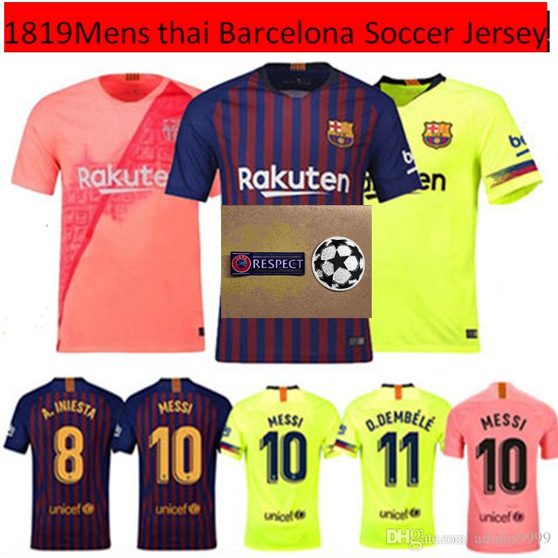 65e130a96 2018 new 2018 2019 top thai quality fc barcelona soccer jersey third