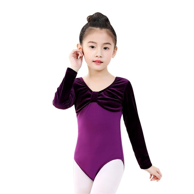 854a513a51 2019 New Girls One Piece Ballet Leotards Patchwork Dancewear Kids Children  Athletic Gymnastics Costumes Long Sleeve Bodysuits From Florence33