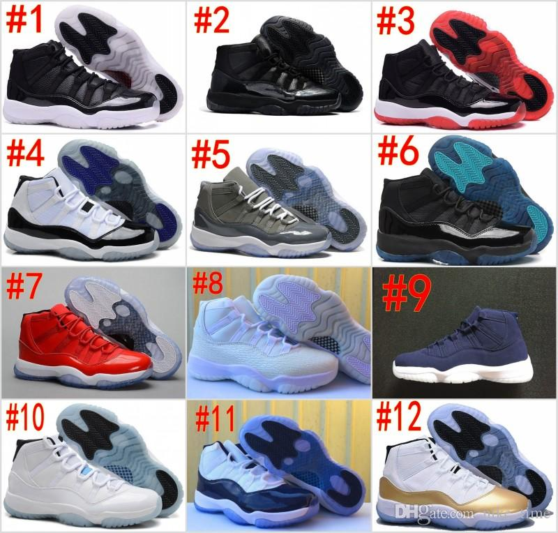online retailer 8f6bd 5856a New 11 Space Jam Bred Concord BlackDevil Basketball Shoes Men Women 11s Gym  Red Chicago Midnight Navy Gamma Blue 72-10 Jeter Re2pect Sneaker