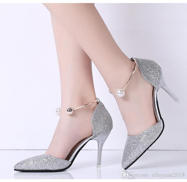 Hebilla Zapatos Palabra La Coreana Compre Perla Versión De URwaYpq