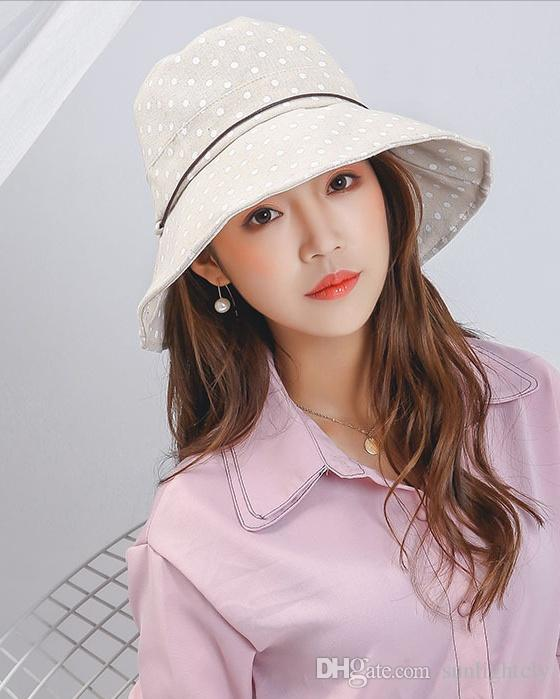 Korean Version Of Women Can Be Folded Sunscreen Shade Summer Eaves Hats Day Point Cloth Tide Outdoor Fisherman Hats