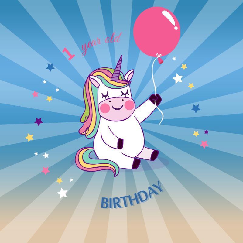 Grosshandel Laeacco Baby 1 Geburtstag Einhorn Ballon Strahlung