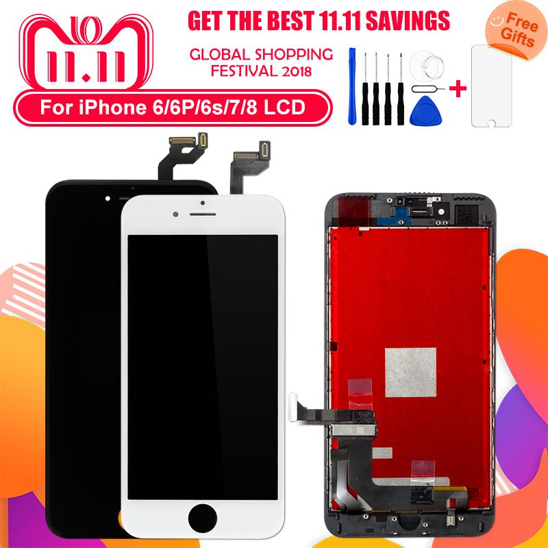 on sale ae6f7 d3afe Factory Price For iPhone 8 Plus LCD Display Touch Screen LCD for iPhone 7  Plus Assembly Digitizer Replacement tools tempered glass