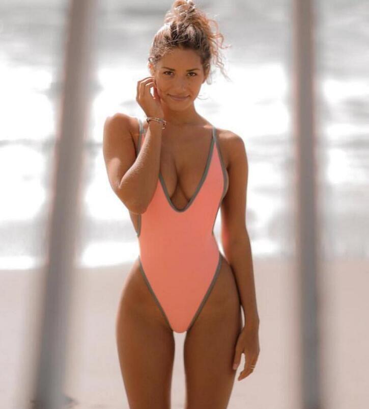 Maillots de bain d'été une pièce pour femmes sexy dos nu G String Thongs taille basse beachwear femmes nouvelles femmes triangle bikini livraison gratuite