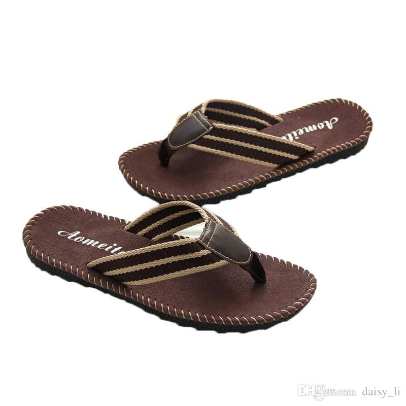 b43b465a337 Unisex Men Flip Flops Slipper Brand Shoe Playa Slippers Male Summer ...